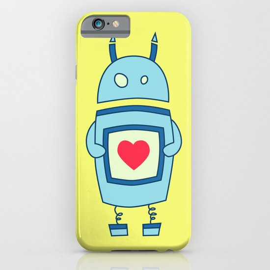 Cute Clumsy Robot With Heart iPhone & iPod Case