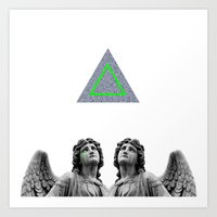 ⊕ Green Angels ⊕ Art Print