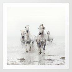 Ghost Riders - Horse Art Art Print