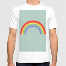 Rainbow Sky SMALL Mens Fitted Tee White
