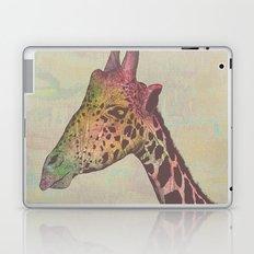 Giraffe in Technicolor Laptop & iPad Skin