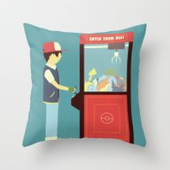 Claw Machine Throw Pillow