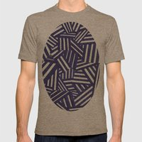 Blue and white Mens Fitted Tee Tri-Coffee SMALL