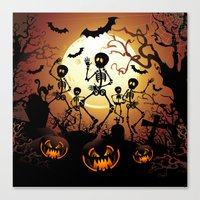 Skeletons Macabre Dance Canvas Print