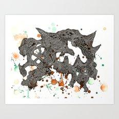 Walking mountain  Art Print