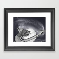 FLY ME TO THE SATURN Framed Art Print