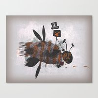 Bee Fighter Canvas Print