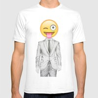 Suit & Tie  Mens Fitted Tee White SMALL