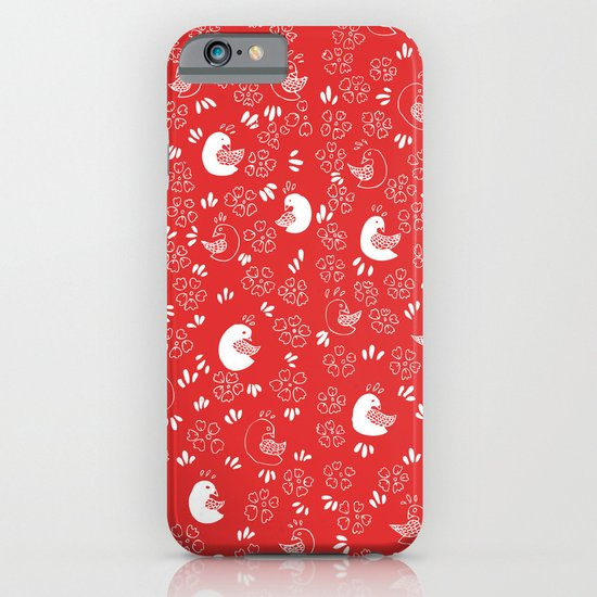 Red Bird Pattern iPhone & iPod Case