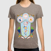 Pinball Wizard Womens Fitted Tee Tri-Coffee SMALL