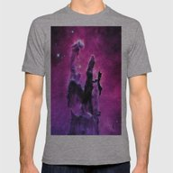 Pillars Of Creation Nebu… Mens Fitted Tee Athletic Grey SMALL