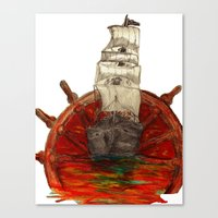 Steering Into A New Sett… Canvas Print