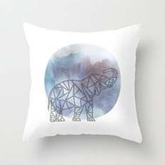 Geometric Elephant Throw Pillow