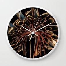 Book Flower Wall Clock