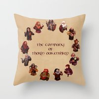 The Company Of Thorin Oa… Throw Pillow