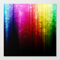 Rainbow Rain. Canvas Print