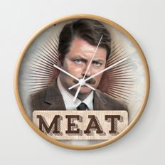 If It Doesn't Have Meat, It's A Snack Wall Clock