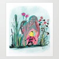 Tiny Adventurer Art Print