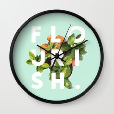 Flourish #society6 #buya… Wall Clock