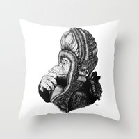Chimp Throw Pillow