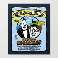 Sloth and Chunk's Ice Cream Canvas Print