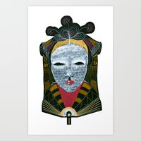 Black MASK Art Print