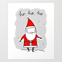 Christmas Ho, Ho, Ho (co… Art Print