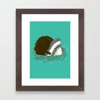 The 70's Shark Framed Art Print