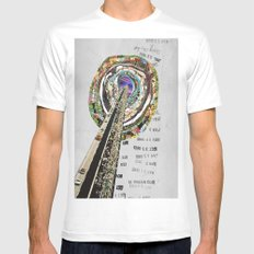 bridge SMALL White Mens Fitted Tee