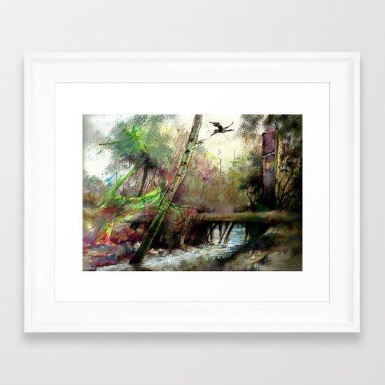 farbnatur Framed Art Print