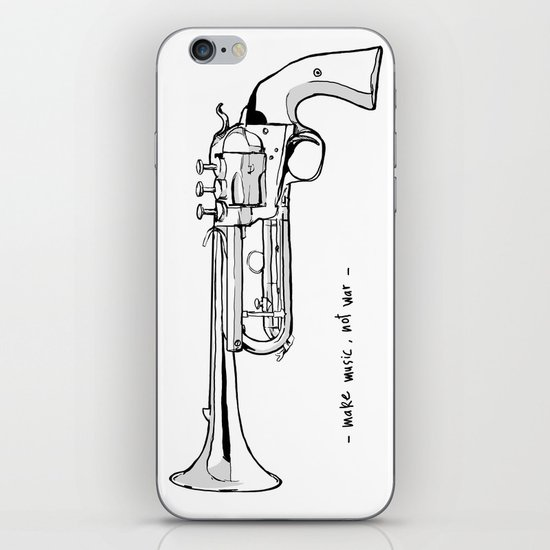 Make music, not war. iPhone & iPod Skin