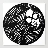 Circle Lady 3 Canvas Print