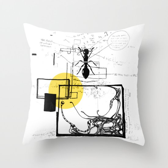 Ant In His Universe Throw Pillow