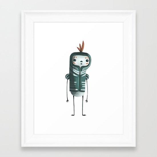 I AM BLUE Framed Art Print