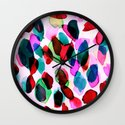 Rainbow Drizzle Jewel Wall Clock