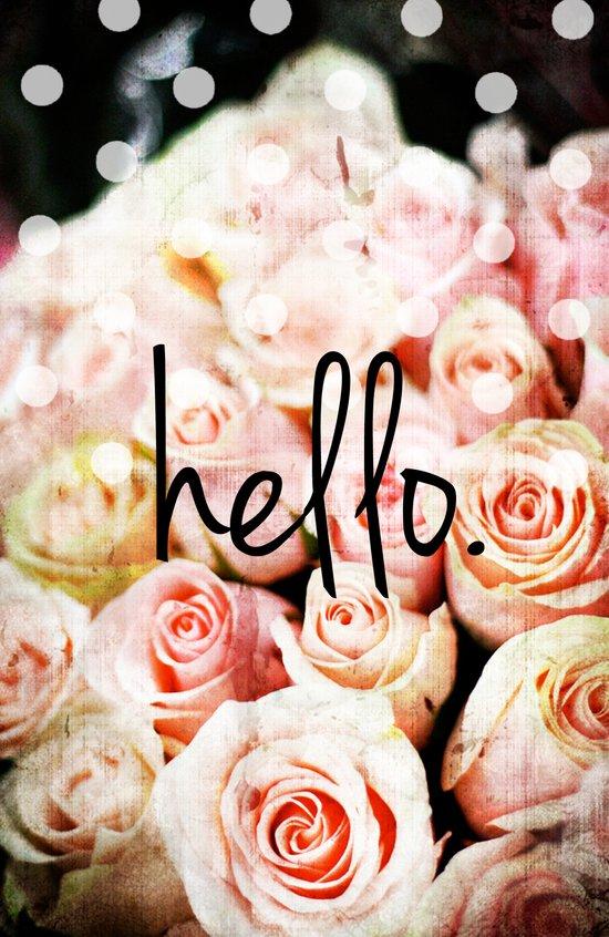 Hello Roses Art Print