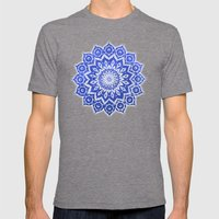 Okshirahm, Blue Crystal Mens Fitted Tee Tri-Grey SMALL