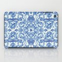 Pattern in Denim Blues on White iPad Case