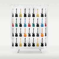 Guitar Collection Shower Curtain