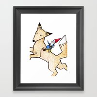 David The Gnome Framed Art Print
