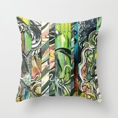 faded 1 Throw Pillow