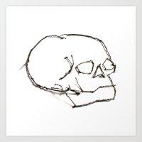 47. Twiggy Skull Art Print