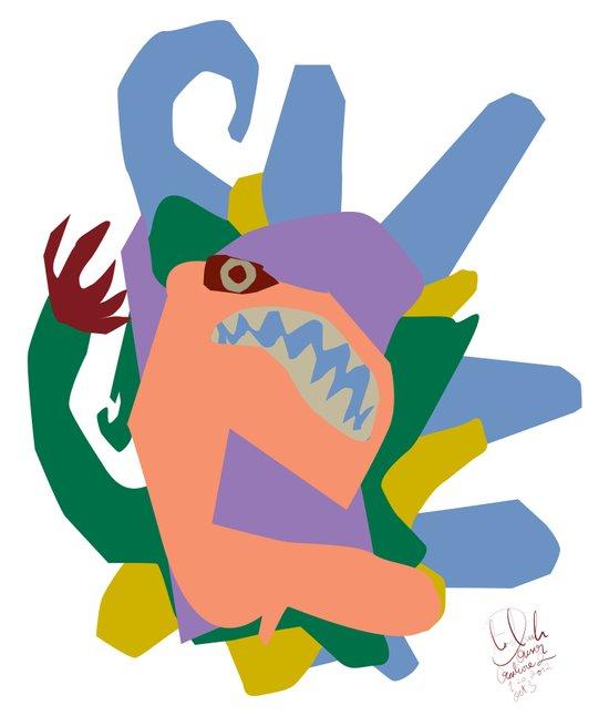 Creature 2 Art Print