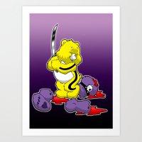 Kill Bill Bear Art Print