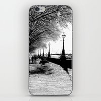 River Thames Path Art Sketch iPhone & iPod Skin