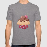 Chocolate Cupcake Mens Fitted Tee Tri-Grey SMALL