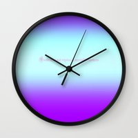Re-Created  Color Field with LOVE 9 by Robert S. Lee Wall Clock