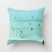 Surfing Vintage. Summer … Throw Pillow