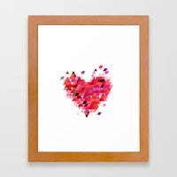 Heart1 Red Framed Art Print