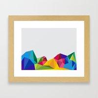 Geometric - Landscapes 2/4 Framed Art Print